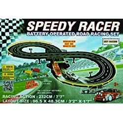 Golden Bright B/O Speed Racer Racing Set