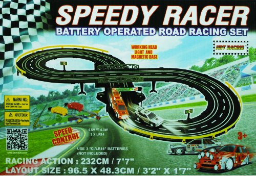 Golden Bright B/O Speed Racer Racing Set (Racing Cars compare prices)