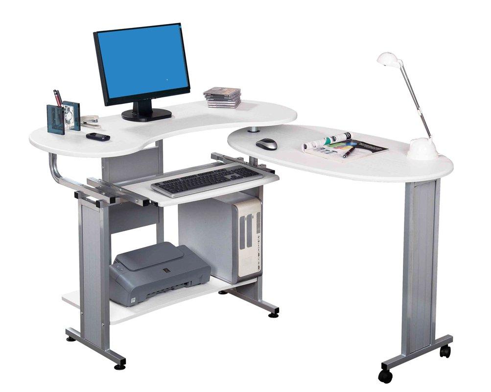 scrivania tavolo per computer ufficio porta pc salvaspazio tastiera scorrevole. Black Bedroom Furniture Sets. Home Design Ideas
