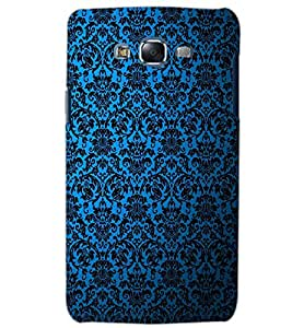 PrintDhaba BLUE PATTERN D-6327 Back Case Cover for SAMSUNG GALAXY ON5 (Multi-Coloured)