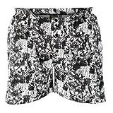 Duke Black and White Graphic Print Boxer Shorts