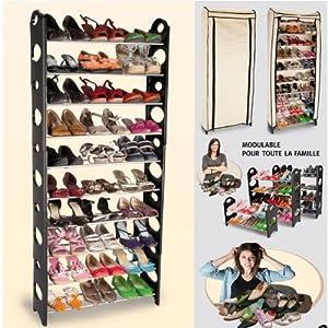 probache etagere range chaussures modulable 2 en 1 bricolage. Black Bedroom Furniture Sets. Home Design Ideas