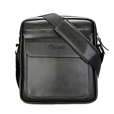 Zicac Men'S Genuine Leather Shoulder Messenger Bag 81