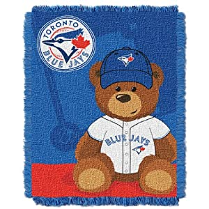MLB Toronto Blue Jays Field Woven Jacquard Baby Throw Blanket, 36x46-Inch by Northwest