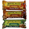 Nature Valley Granola Bars Variety Pack, Oats 'n Honey, Peanut Butter, Maple Brown Sugar, 12-2 bar pouches, (Pack of 3)