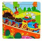 Ularma Madera de los cabritos 16 pieza rompecabezas juguetes para la educaci�n de los ni�os y Puzzles juguetes de aprendizaje (multicolor2)