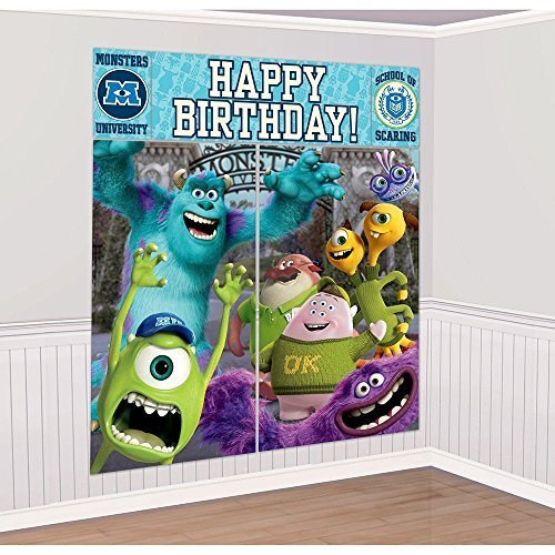 Disney Monsters University Scene Setter Wall Decorations Kit - Kids Birthday and Party Supplies Decoration