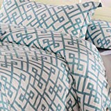 ハネムーン1600t Brushed Microfiber 3個入り羽毛布団カバーセット、羽毛布団カバーと枕セット キング HM01400803K-AEGBLUE Honeymoon