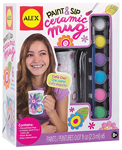 Alex Toys Alex Toys Craft Paint and Sip Ceramic Mug, Multi Color