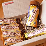 Cadbury Wispa Gold Lovers Indulgence Box - Perfect Relaxing Gift Idea - Wispa Gold Drinking Chocolate - Hot Frothy Caramel Choccy, Wispa Gold Bar - By Moreton Gifts