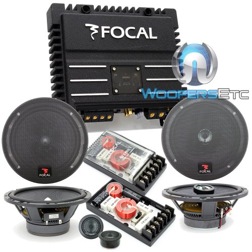 "Pkg 165A1 - Focal 6.5"" 120 Watts 2-Way Component Speakers System + 165Ca1 - Focal 6.5"" 2 Way Coaxial Speakers + Solid4 - Focal 4-Channel 400W Rms Amplifier"