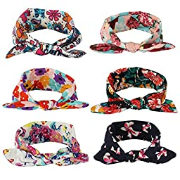SKYLARKING For Little Baby Girl Newborn Turban Headbands Head Wrap Wear Hair Band