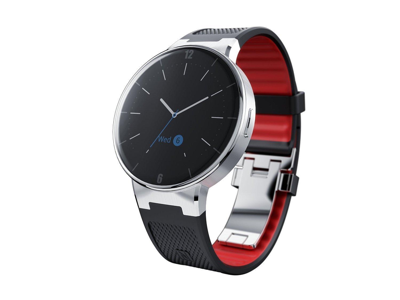 alcatel one touch smartwatch wave schwarz rot oder wei inkl vsk f r 134 44. Black Bedroom Furniture Sets. Home Design Ideas