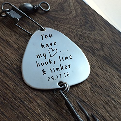 You-have-my-Heart-Hook-Line-Sinker-Fishing-Lure-Personalized-Fishing-Lure-Husband-Fishing-Lure-Custom-Fishing-Lure-Engraved-For-Him-Mens-Fishing-Lure-Hook-Line-and-Sinker-Gift