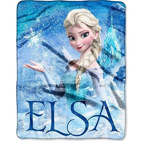 Great Deal! Disney's Frozen Silk Touch Elsa Palace Throw Blanket  40x50