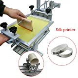 TFCFL Manual Cylinder Screen Printing Machine Bottle/Cup Curve Surface Press Printer with 10
