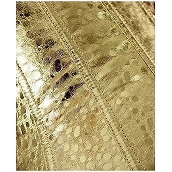 Vintage Overbust Corset Waist Trainer Bustier Gold Color