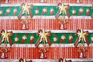 Gift Wrapping Paper - Christmas Bells with Musical Notes