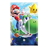 Single Rocker Wall Switch/Outlet Cover Plate Decor Wallplate - Super Mario Galaxy Yoshi (Color: Multicolored, Tamaño: Midway)