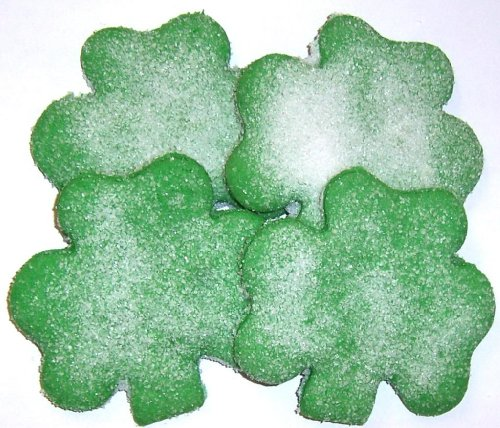 Scott's Cakes Green Shamrock Cookies  White Sugar