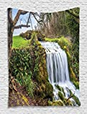"""Waterfall Wall Hanging Wall Tapestry - 60""""Wx80""""L - Living Room / Bedroom / Dorm Decor - One of a Kind - Machine Washable - Shiny Silky Saten"""