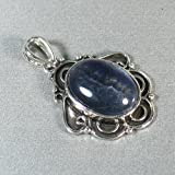 Flourite Sterling Silver Plated pendant - Ladies Pendant Beautiful Stone With Shiny Silver Plated Pendant