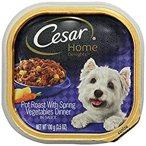 Cesar Home Delights Pot Roast with Vegetables Flavor Wet Food Tray for Small Dogs, 3.5-Ounce, 24-Pack