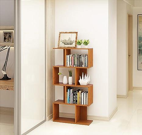 Book Jia librerie Scaffale da scaffale per ufficio semplice combinazione multi-layered bambù camera da letto combinazione scaffali librerie moderne ( dimensioni : 25*65*138cm )