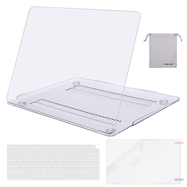 MOSISO MacBook Air 13 Inch Case 2018 Release A1932 with Retina Display, Plastic Hard Shell & Keyboard Cover & Screen Protector & Storage Bag Only Compatible Newest MacBook Air 13, Crystal Clear (Color: Crystal Clear, Tamaño: 13 Inches)