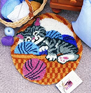 Caron WonderArt Latch Hook Rug Kit - Cat Nap by Caron