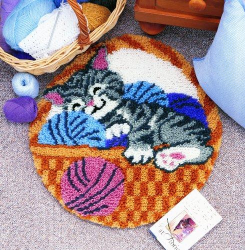 Caron WonderArt Welpe Knüpfhaken-Kit Cat Nap
