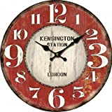 34cm Vintage Style Retro Shabby Chic Battery Operated Kensington London Wall Clock
