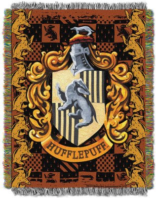 Hufflepuff Crest Tapestry Throw Blanket – Harry Potter