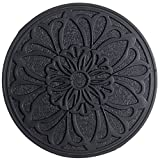 Home Furnishings by Larry Traverso Eco-Friendly Rubber Victorian Garden Stepping Stone, 11-3/4-Inches, Black