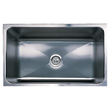 Blanco BL440298 Magnum 8-Inch Undermount Deep Large Single Bowl, Satin