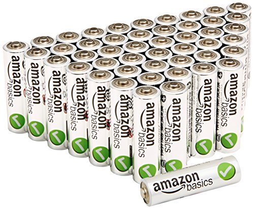 AmazonBasics AA Performance Alkaline Batteries (48-Pack)