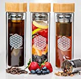 LIFE Drinkware Tea Tumbler with Strainer, Stainless Steel Infuser