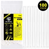 Nylon Zip Ties Heavy Duty- 8 Inch 100 Pieces,50 Pounds Tensile Strength, Ultra Strong Plastic Wire Ties, Multi-Purpose Self Locking Cable Ties.White (Color: White, Tamaño: 8 Inch)