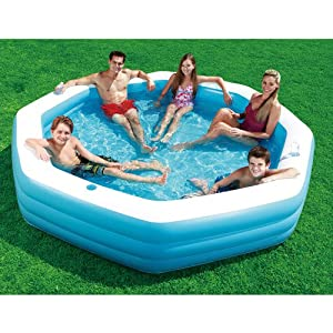 Inflatable family swimming pool with cup for Garden inflatable swimming pool
