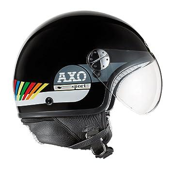 AXO mS1P0013 casque jet subway taille s (cool jet noir/blanc/jaune