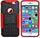 myLife Black + Ferrari Red {Hard Rubber Kickstand Design} 2 Layer Hybrid Case for the NEW iPhone 6 (6G) 6th Generation Phone by Apple, 4.7 Screen Version (Single External Fitted Hard Protector Shell + Full Body Internal Silicone EASY-Grip Bumper Gel Protection)