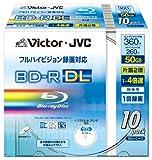 Victor 映像用ブルーレイディスク DL(片面2層) 1回録画用 260分 50GB 4倍速 ワイドホワイトプリンタブル 10枚 BV-R260GW10