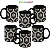 HomeSoGood Gorgeous 3d Structure Coffee Mugs (6 Mugs)
