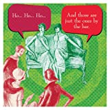 Funny Holiday IMproper Greeting Beverage Napkin-HO HO HO