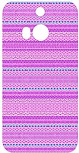 Pink Tribal Pattern Back Cover Case for HTC One M8