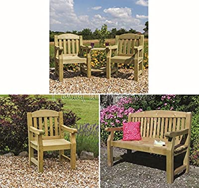 Solid Wood Outdoor Furniture Garden Dining Set Table Chairs Companion Seat Bench - 10 Year warranty against rot