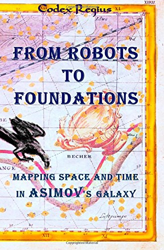From Robots to Foundations: Mapping space and time in Asimov's Galaxy