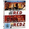 R.E.D. - Älter. Härter. Besser/R.E.D. 2 - Noch Älter. Härter. Besser - Steelbook [Blu-ray] [Collector's Edition]
