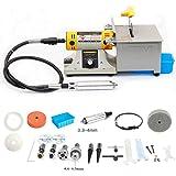110V Jewelry Rock Polishing Buffer Bench Lathe & Polisher Machine Tool Kits Multifunction Grinder TM-2