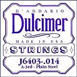 D'Addario J6403 Plain Steel Dulcimer Single String, .014
